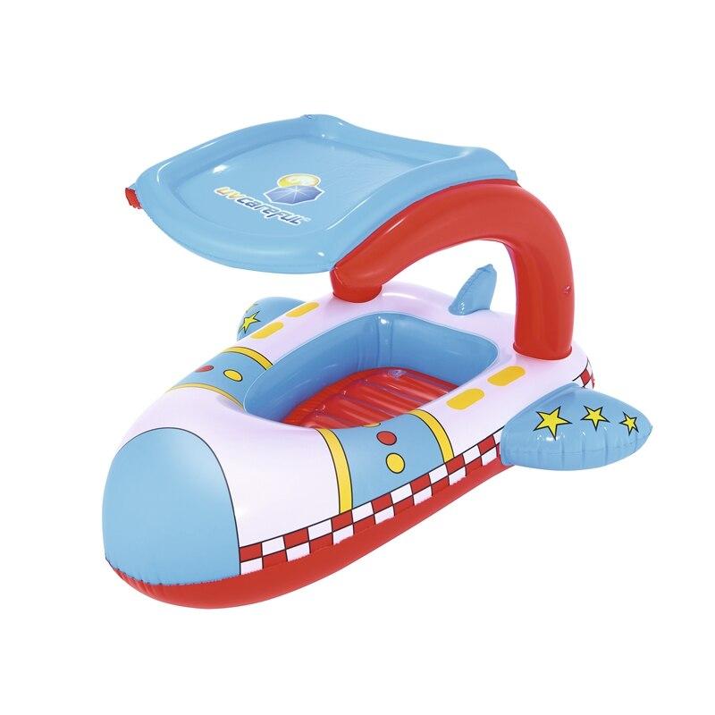 Foot Air Pump Baby Kids Float Seat Boat Inflatable Swimming Ring Pool Water Fun