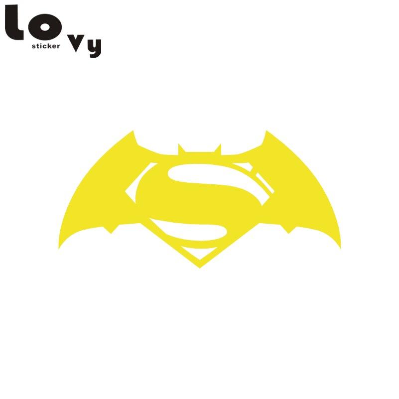Creative Superhero Vinyl Wall Sticker Funny Cartoon Batman Superman Wall Decal For Kids Room Bedroom Home Decor