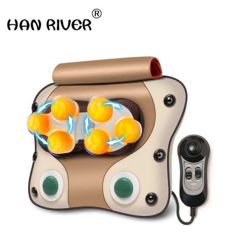 HANRIVER Cervical massage device neck lumbar cushion full-body multifunctional massage pillow household household cervical massage device neck multifunctional electric full body cushion car massage pillow for infrared heating
