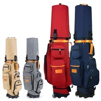 Multifunctional Standard Golf Bags Wheels Stand Caddy Airbag Flight Aviation Package High Capacity Golf Cart Bags D0644