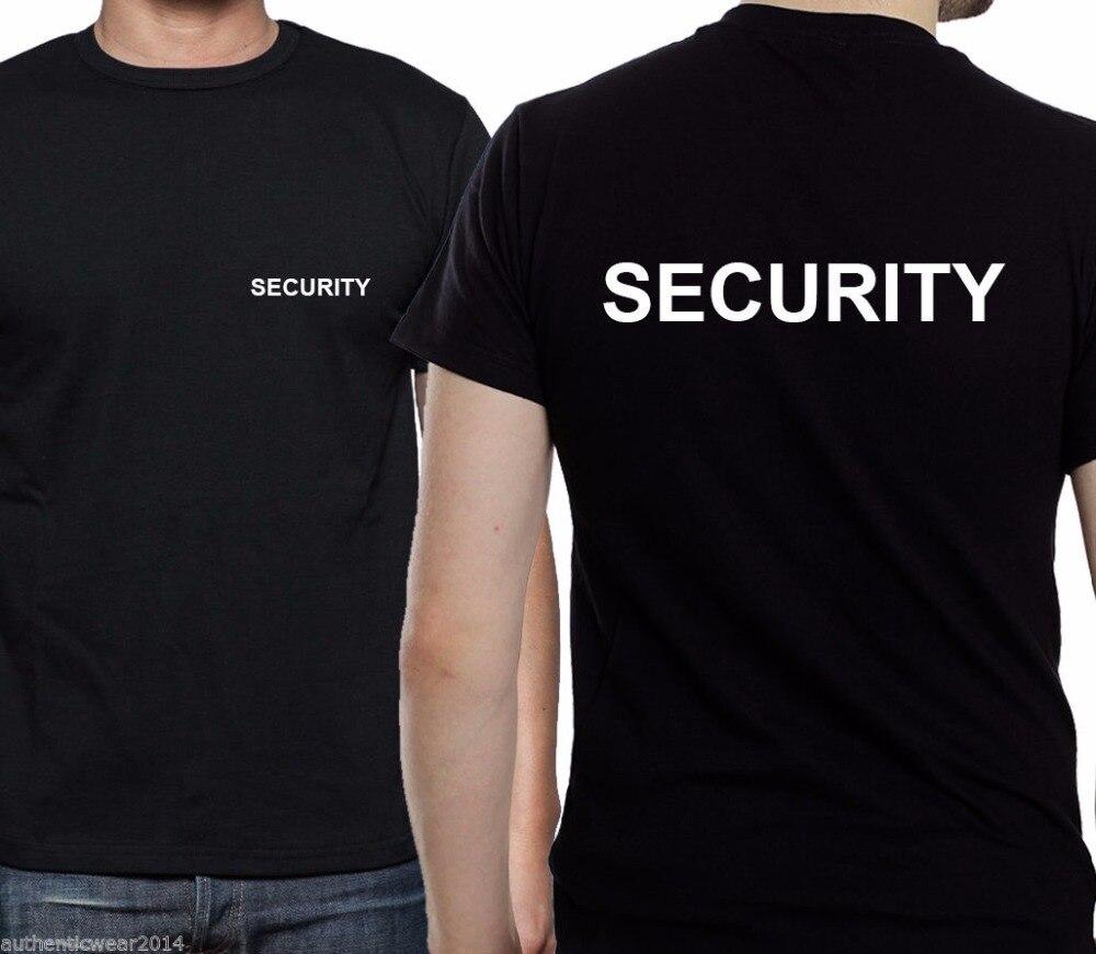 Black t shirt security - 100 Cotton Summer Men S Fashion T Shirt Security T Shirt Top Work Guard Guards Door Men S Bodyguard Leisure Tee Shirt