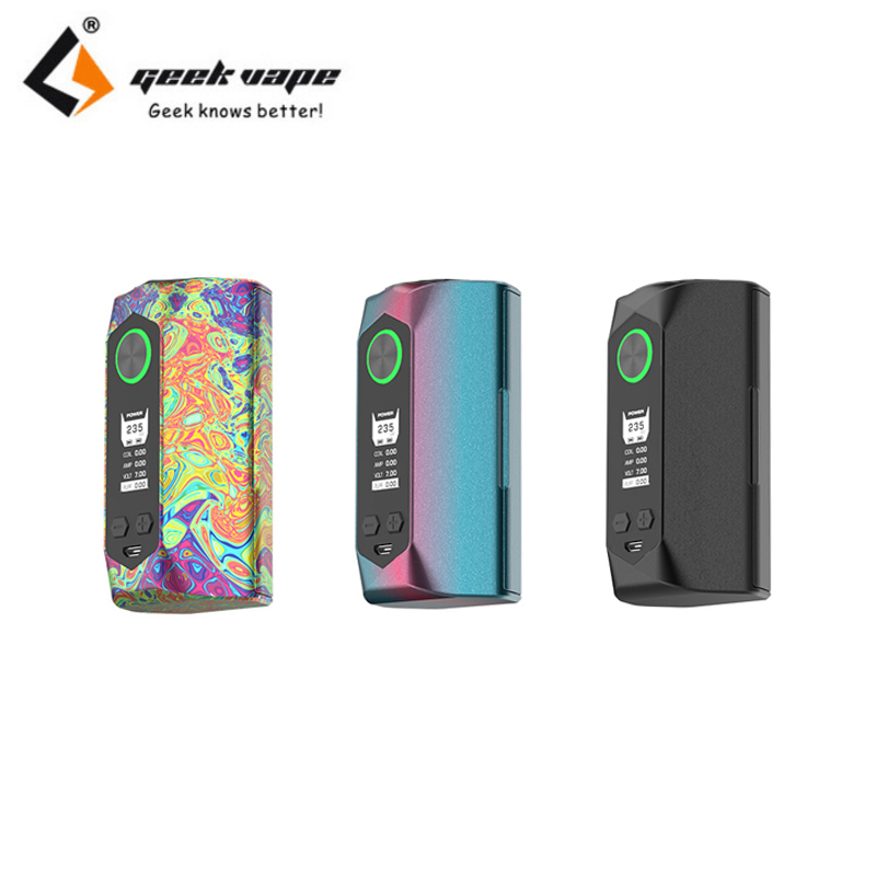 Original GeekVape Blade 235W Box Mod Huge Power 235W 510 Thread Vape Mod NO 18650 Battery Fit E-cig Vaper Vaporizer Atomizer