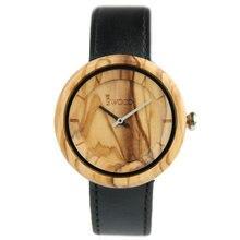 2017 new fashion men's ladies watch Japanese quartz movement simple fashion wooden leather strap quartz men's watch
