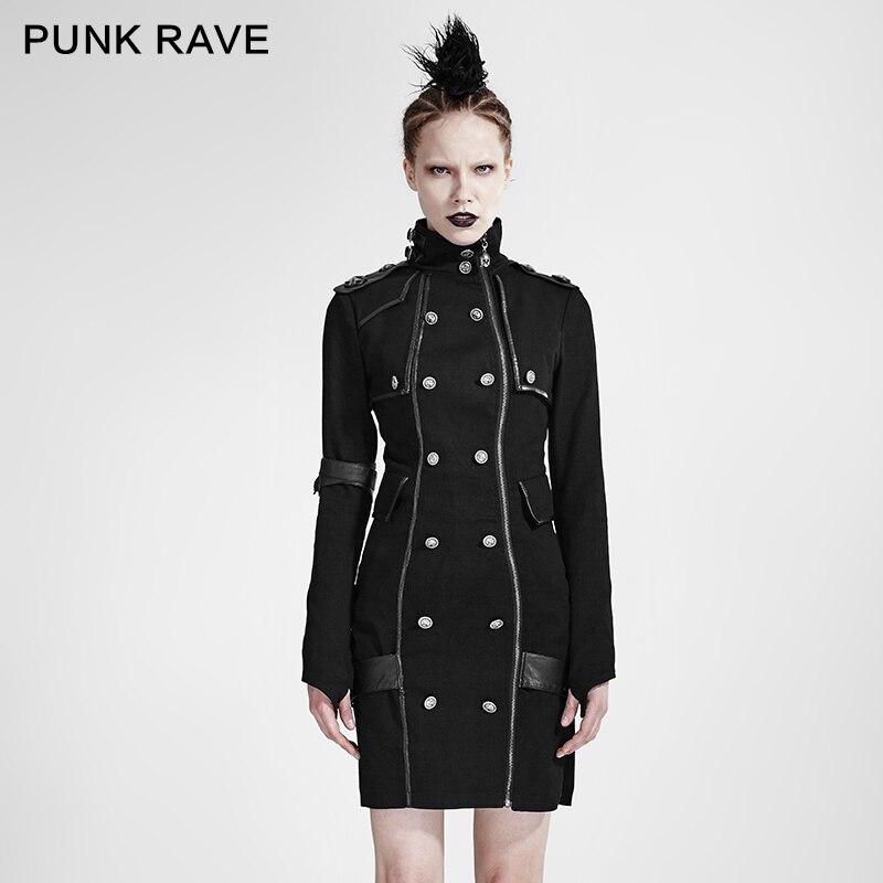 PUNK RAVE femmes Punk Rock mode robes noires belle gothique Steampunk robe uniforme