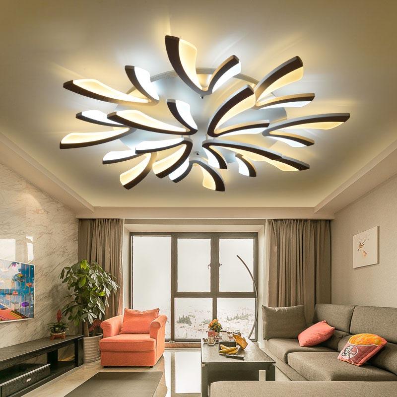 Modern Led Pendant Lamps Living Room Acrylic Fixture: Acrylic Modern Led Ceiling Lights For Living Room Bedroom