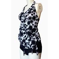 Fashion Women Two Piece Swimsuit Pregnancy Maternity Tankinis Set Plus Size Swimwear Halter Print Bathing Swimming