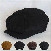 Берет ткань восьмиугольная кепка художник кепка газетчик кепка хаки черный мужчины святого и женщины в журналы из 4 сезона шляпа