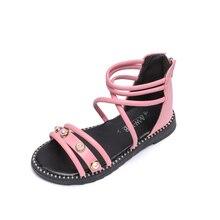 Bekamille Children Sandals Summer Girls Shoes Fashion Pearl
