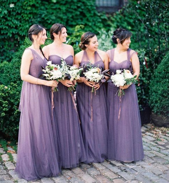 Infinity Bridesmaid Dress Purple