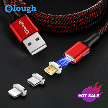 Elough Espark 3in1 kit Magnetic USB Cable For iphone Micro Type-c Phone Cable Fast charging Micro USB Cable Date Wire For Xiaomi