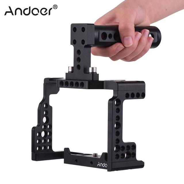 Andoer Video Film Movie Making Stabilizer Top Handle Camera Cage for Sony A7II/A7III/A7SII/A7M3/A7RII/A7RIII Camera