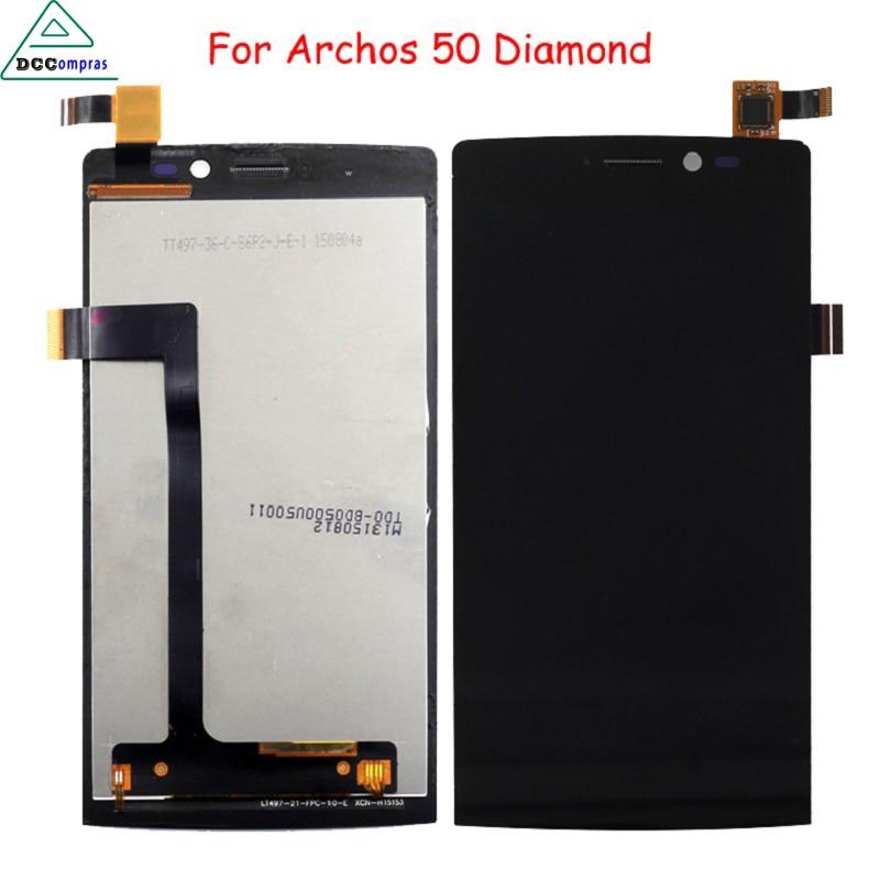 imágenes para Original para pantalla lcd ensamblaje de la pantalla para archos archos 50 diamond pantalla lcd 50 diamantes con marco