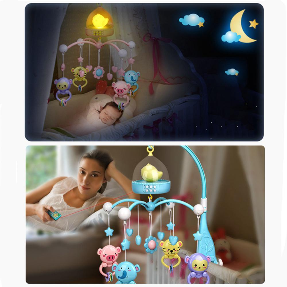 Bébé dessin animé hochets berceau support de jouet lit tournant lit Mobile boîte à musique 0-12 mois nouveau-né bébé jouets