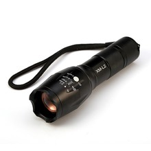 Sale USA E17 XM-L T6 3800LM Tactical Cree Led Torch Zoomable Cree LED Flashlight Torch Light for AAA or 1xRechargeable 18650 Battery