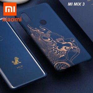 Image 1 - 원래 Xiaomi 미 믹스 3 케이스 (4g 버전) 고급 그림 하드 PC 커버 케이스 Xiaomi 미 MIX3 믹스 3 커버 울트라 슬림 Funda Coque