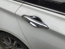 Funduoo para hyundai sonata ye i45 yf chrome abs maçaneta da porta do carro captura guarnição capa 2011 2012 2013 2014 carro-estilo