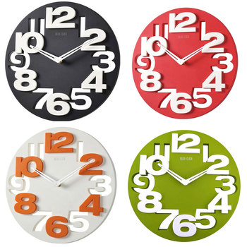 New Watch Wall Clock Novelty Hollow-out 3D Big Digits Kitchen Home Office Decor Round Shaped Wall Clock Art Clock Decoration