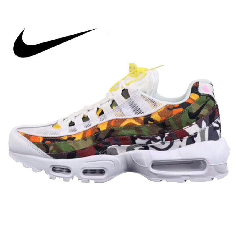 sports shoes 2ed08 02814 US $76.51 32% OFF|Authentic Nike Air Max 95 Men's Running Shoes Sneakers  Shockproof Walking Outdoor Sports Designer Footwear 2019 New Arrival-in ...
