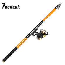 2.4-6.3M Super Hard Carbon Spinning Fishing Rod Telescopic Sea Fishing R