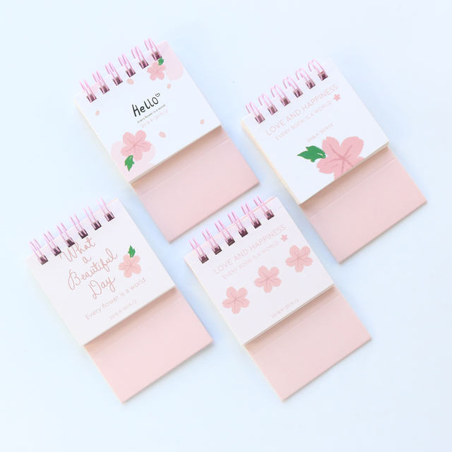 Calendar Planner September 2019.Us 1 7 Domikee Cute 2019 Year Mini School Student Portable Desk Calendar Planner Stationery 2018 September 2019 December In Calendar From Office