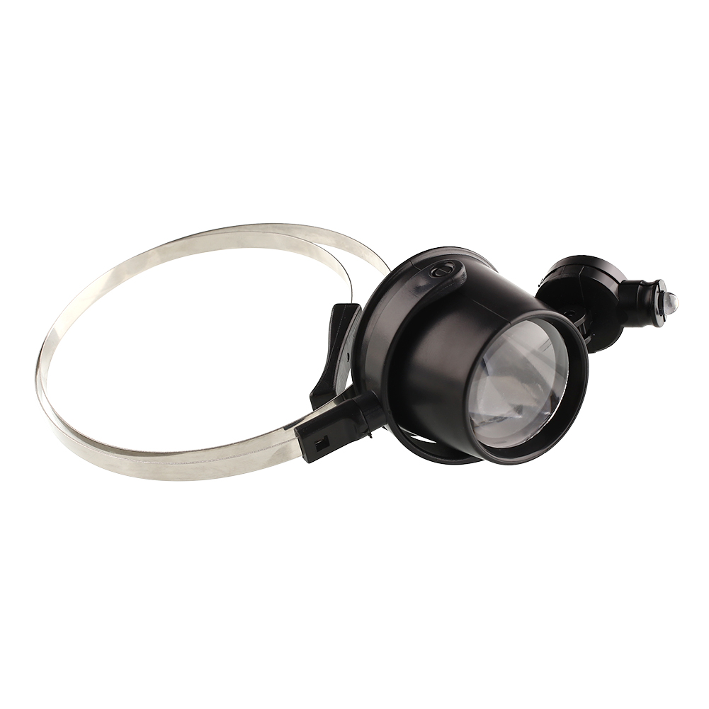 New Portable 15X Head Band Eye Led Magnifier Loupe Jewelers Circuit Magnifying Glass Watchmakers Free