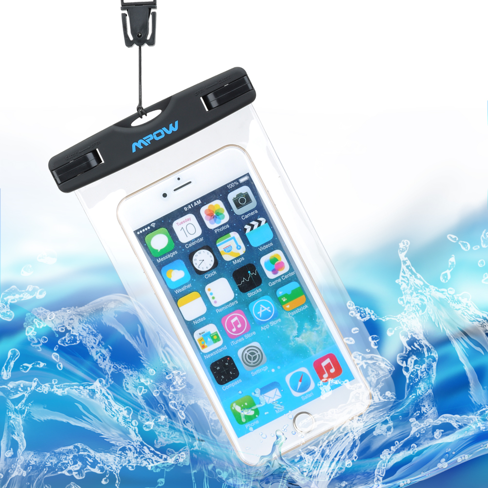 Mpow MBC3 IPX8 Waterproof Phone Bag Underwater Pouch Case Cover for iPhone 7 6 6s 5S SE Plus funda / Samsung Note 4 S7 S6 S5 J5 waterproof bags for phones