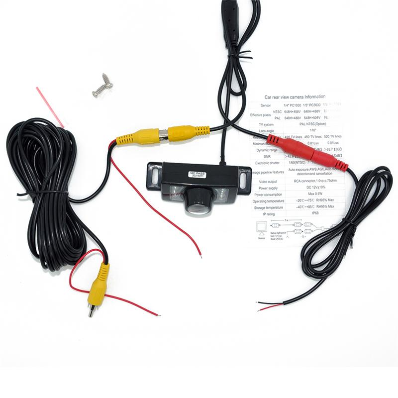7LED Car achteruitrijcamera + 4,3