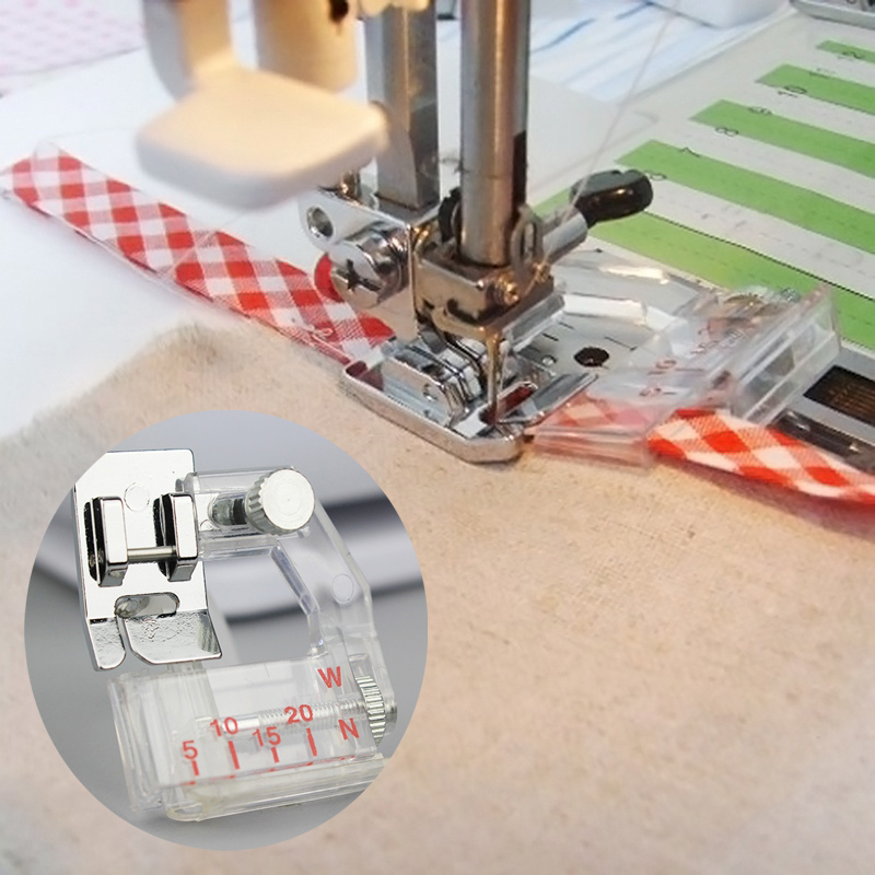 2019 Home Adjustable Bias Binder Presser Foot Feet For Sewing Machines