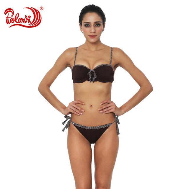 Polovi Sexy Women Bikinis Bandage 2017 Brazilian Push Up Bikini Set Swimming Swimsuit Bathing Suit Female Biquinis Swimwear