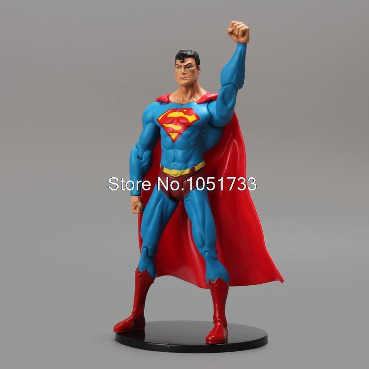 DC Comics Superhero Superman PVC Action Figure Collectible Model Toy 7 18CM Free Shipping HRFG209 neca dc comics batman superman the joker pvc action figure collectible toy 7 18cm