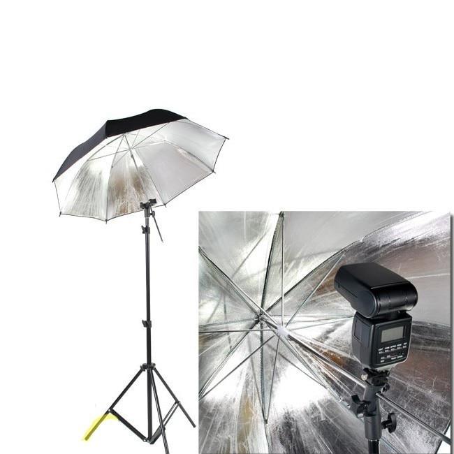 E Typ Universal Flash-Blitzschuh Speedlite Regenschirm Halter Stativ Halter DE