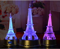 20cm LARGE # TOP COOL Wedding party decorate 3D Paris Eiffel Tower Rainbow crystal Sculpture statue best birthday present