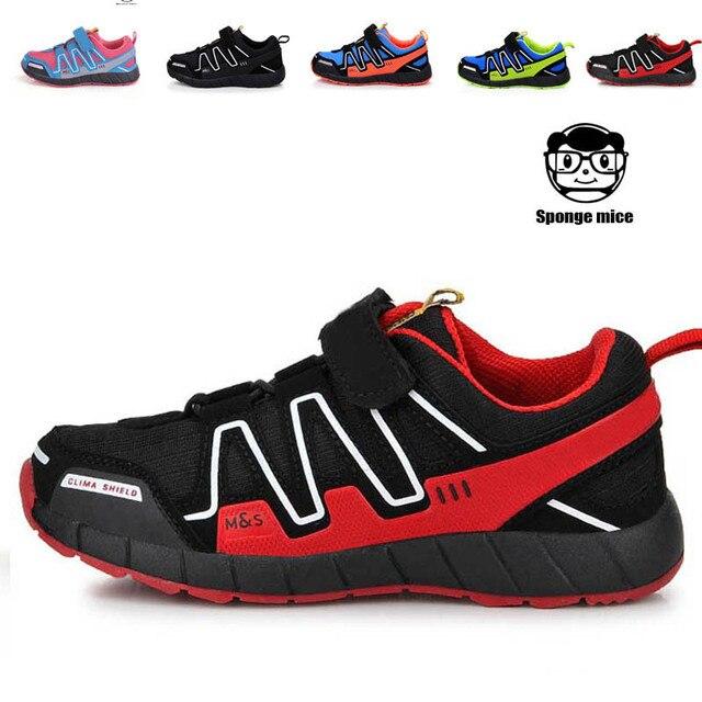 Дети спорт кроссовки для 2017 Лучшие качества марка детская обувь девочек мальчиков дышащая chaussure enfant гарсон де марка спорт