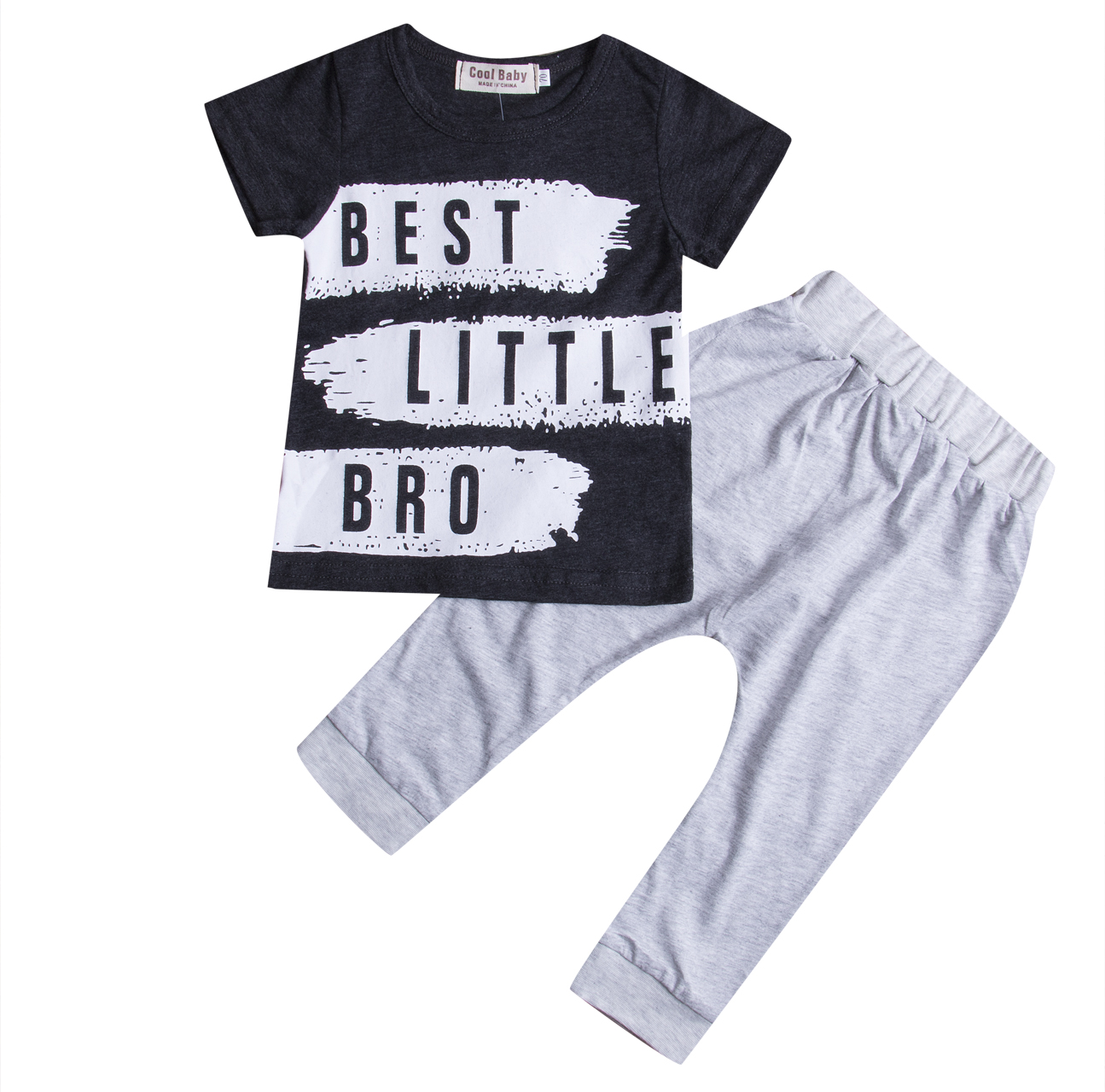 Newborn Infant Kids Baby Boys Clothes Sets T shirt Tee Top Short Sleeve Pants Cotton Letter Outfits Clothing Set 0-24M children s suit baby boy clothes set cotton long sleeve sets for newborn baby boys outfits baby girl clothing kids suits pajamas