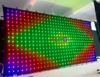 Large Size Matrix Led Video Display Flexible Led Light Curtain Wall 6x3m