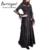 Estilo gótico corsé burvogue gasa de las mujeres maxi vestido de la longitud del tobillo verano vestido de corsé steampunk corsé con gradas del vestido
