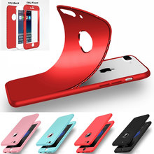 Гибридный всего тела 360 Защита для iphone 6S 7 Чехол Мягкий Силиконовый противоударный телефона Чехлы для iPhone 7 плюс 6S плюс