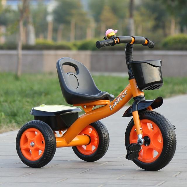 Bebé Triciclo de juguete de los niños de tres ruedas bicicleta de equilibrio Scooter portátil bicicleta No Pedal de bicicleta bebé Coche