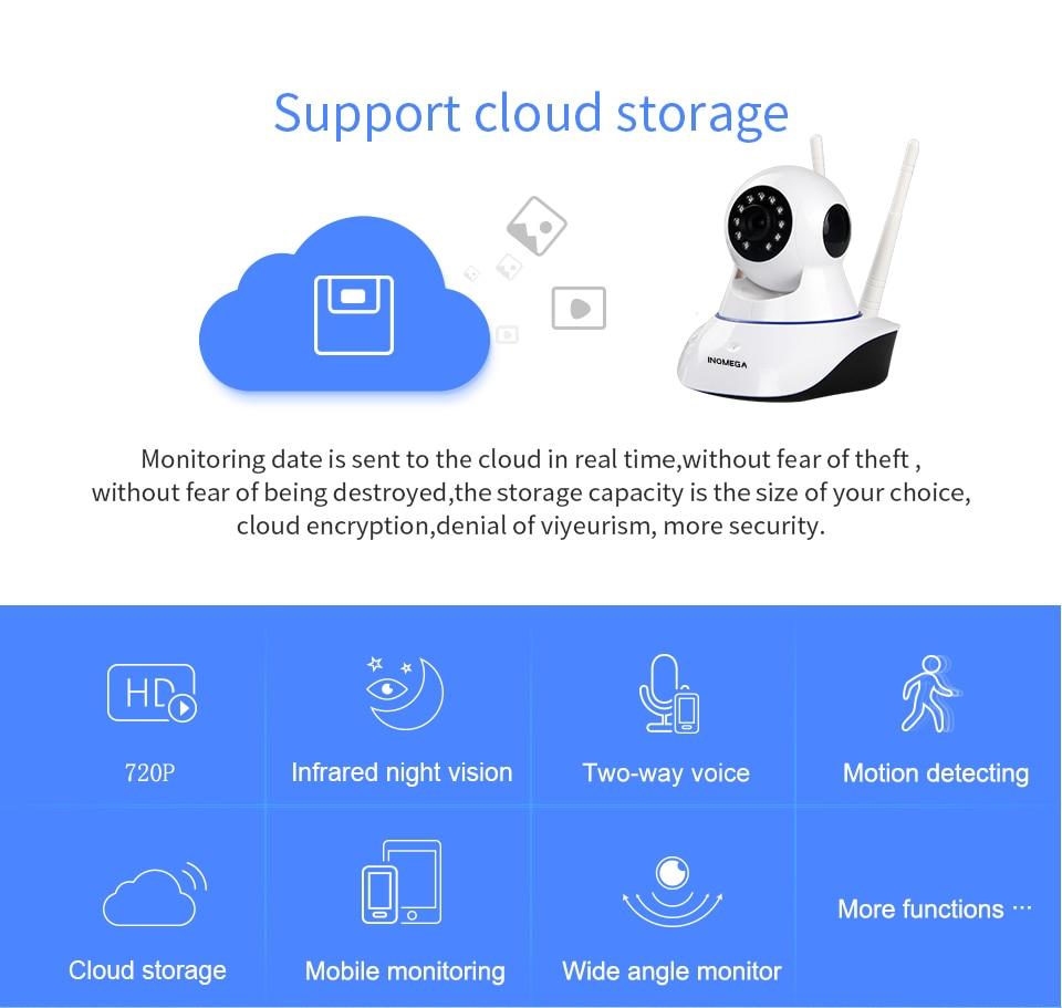 INQMEGA Cloud IP Camera wifi 720P Home Security Camera CCTV Network Surveillance Wireless WI-FI cam Night Vision Baby Monitor