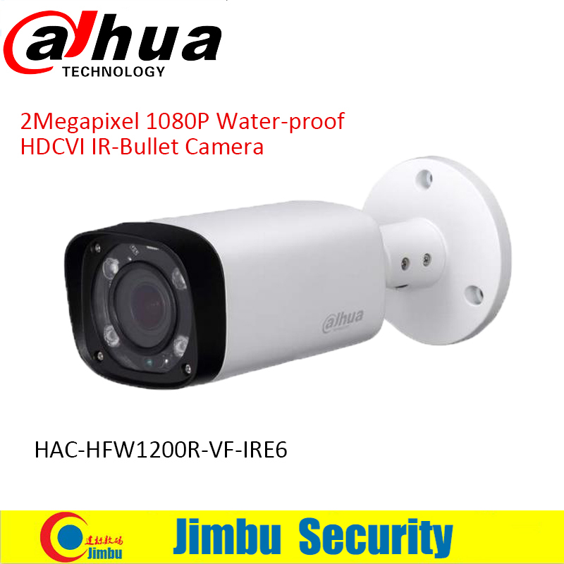 DAHUA HDCVI Bullet Camera 1/2.7 2Megapixel CMOS 1080P IR 30M IP67 2.7~12mm vari-focal lens HAC-HFW1200R-VF-IRE6 security camera dahua 2mp hdcvi camera cctv 1080p water proof ip67 hac hfw1200s bullet camera lens 3 6mm ir leds length 30m mini security camera