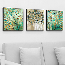 Canvas Painting 3 Piece Nature Print Poster Modern Abstract Wall Trees Landscape Pictures