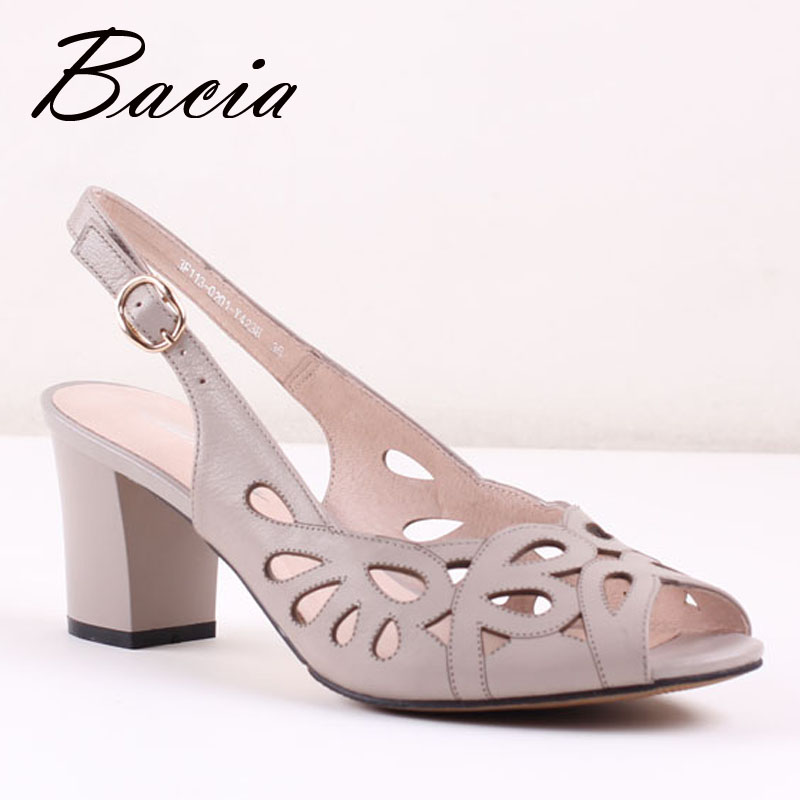 ФОТО Bacia Sheep Skin Sandals Hollow Design Comfortable Summer Shoes Women Blue Genuine Leather High Quality Shoes Size 33-41 SA029