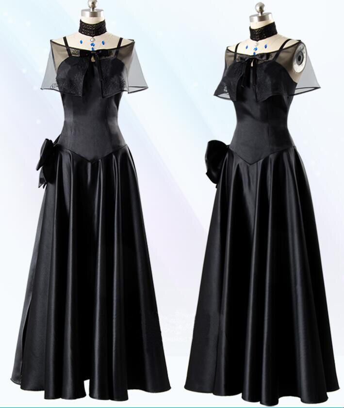 Cosplay jeu japonais FGO destin/séjour nuit Jeanne Nalter 2nd 10 e anniversaire robe noire (6 pièces) Cos vêtements