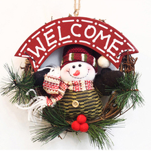 2016 Christmas Garlands Wreath Ornaments Home Supplies Rattan Pendants Door Hanging Xmas Decoration R087