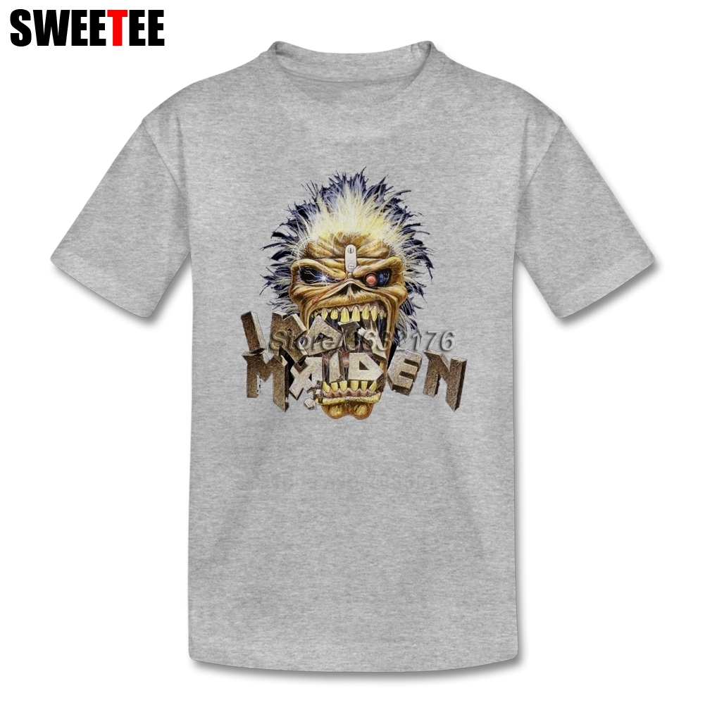 boys girls T Shirt Music Cotton Crew Neck Iron Maiden Tshirt children's Clothes 2018 Top Designer Metal T-shirt For kids
