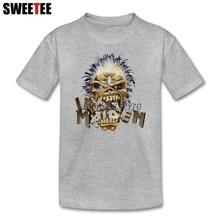 16e0fe7d0 boys girls T Shirt Music Cotton Crew Neck Iron Maiden Tshirt children's  Clothes 2018 Top Designer