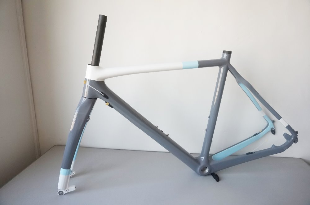 цены Toray Carbon Fiber Cyclocross Bike Frame Full Carbon Cyclocross Frameset Disc Brake