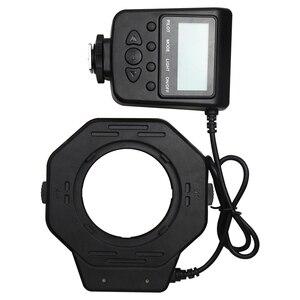 Image 5 - مصباح فلاش حلقي ماكرو Led لكاميرات Canon MarkIII Nikon Olympus Pentax SLR بقطر 52/55/58/62/72/77 مللي متر