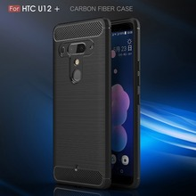 For HTC U12 Plus Case Carbon Fiber Luxury Soft TPU ShockProof Silicone Full Protector For HTC U12Plus U12+ Back Cover Coque