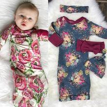 2018 Newborn Baby Sleeping Bag Kids Sleep Sack Infant Baby Boy Blankets  Cartoon Floral Print Baby Winter Sleeping Bag Hat 2pcs 353d07491508